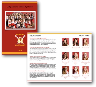 Judge Memorial Women's Lacrosse Brochure