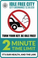 IDLE-FREE-Sign